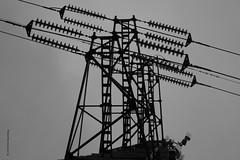 hoogspanningsmast (wimrozenberg) Tags: hoogspanni hoogspanningsmast somber grijs