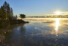 Perfect Morning - North Shore Lake Superior (j-rye) Tags: sunrise sonyalpha sonya7rm2 ilce7rm2 mirrorless lakesuperior lake cabin tree northshore point rocks shore clouds sun mist fog serene