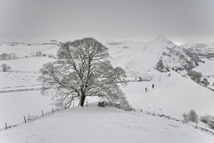 Two Men and a Dog (Andrew Mowbray) Tags: peakdistrict peakdistrictnationalpark chromehill parkhousehill derbyshire derbyshirestaffordshireborder earlsterndale hollinsclough riverdove upperdove reefknoll whitepeak walkinginderbyshire winter snow