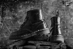 Dr Martens (annie.cure) Tags: dr martens atmosphere boots blackandwhite porto portugal effect ad publicity monochrome mood studio light canon 750d rocks grunge fashion flash water waterproof style dark airwair details