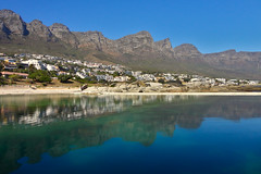 The Twelve Apostles (Regina Valim) Tags: mountains reflexion twelveapostles campsbay capetown southafrica greenwater bluewater
