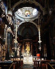 Chiesa di Santa Maria del Carmine, Milano, Italia While the exterior of this 1446 church is fairly plain, the interior is amazing. The light and shadows effect on the architecture are so dramatic is almost, literally, takes your breath away. We stepped in (dewelch) Tags: