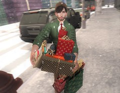 Holiday Shopping Overload! (EnviouSLAY) Tags: nyc newyorkcity new york city cityscene scene shoppingscene shopping secondlifephotography secondlifefashion beanie hathair brunette khaki green red christmas holiday presents pose bento foxcity props riot vango coldash cold ash cardigan tie formal newreleases releases uber tmd themensdepartment the mens department mensmonthly mensfashion mensfair mensevent monthlymen monthlyfashion monthlyfair monthlyevent event fair monthly men fashion pale male gay blogger secondlife second life photography