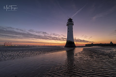 Perch Rock Dawn. (miketonge) Tags: 1424 nisi d850 nikon seascape wirral merseyside wallasey mersey estuary lighthouse perchrock newbrighton sunrise dawn sea water sand ripples