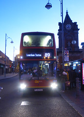 GAL PVL284 - PJ02RCU - BEXLEYHEATH CLOCK TOWER - THUR 13TH DEC 2018 (Bexleybus) Tags: go ahead goahead london pvl284 pj02rcu volvo b7 plaxton president bexleyheath shopping centre clock tower kent tfl route 89
