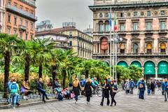 Milan street view (M Malinov) Tags: milan milano streetview street view eu europe apennine italy italia city град милано европа италия tree people