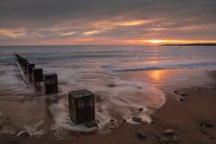 The Last Sunrise of 2018 - Aberdeen Beach (Derek Coull) Tags: beach sun sunrise lastsunriseofyear groynes earlymorning skies ocean freshair aberdeen scotland happynewyear hogmany