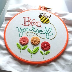 (Beyond Sweet) Tags: bee yourself kit embroidery hand sewing