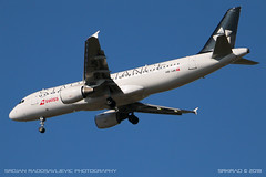 Airbus A320-214 (srkirad) Tags: aircraft airplane jet airliner airbus a320 swiss staralliance landing niš serbia srbija sky sunny summer afternoon zoom closeup low planespotting