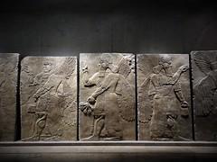 Which way do we go? (SM Tham) Tags: europe germany bavaria munich statemuseumofegyptianart sumerian assyrian art stone wallpanels gods guardians winged display lighting