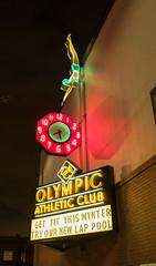 Olympic Athletic Club 1 (DY Pics) Tags: seattle neon night fuji x100f usa olympicathleticclub
