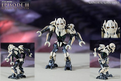 Custom LEGO Star Wars: Revenge of the Sith | General Grievous (LegoMatic9) Tags: custom lego star wars episode iii revenge sith general grievous minifigure