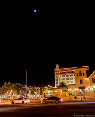 2019.01.13.5676 St. Augustine Under a Half-Moon (Brunswick Forge) Tags: 2019 florida staugustine night nikond500 outdoors outdoor nature sigmaf181835mmart grouped air sky winter favorited