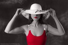 Anastasia-1437 (Dana Brady) Tags: redbodysuit bodysuit nikon nikond7100 whitehat artistic red