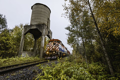 South River (Ryan J Gaynor) Tags: southriver coalingtower railroad bcol bcrail train trains railfan railway railroading track northernontario forest trees foliage ontario canada canadian wideangle gec40m locomotive gec408