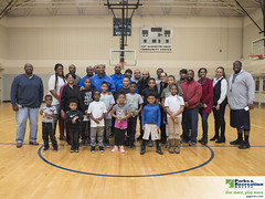 MakeItHappenFootballClinic 19-94 (Prince George's County Department of Parks and Rec) Tags: makeithappenboysempowermentfootballclinic makeithappen boys empowerment football clinic fortwashingtonforestcommunitycenter speaker teacher catching running