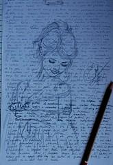 Si te ruborizas cada vez que lo ves, igual hay mariposas cerca... Bocetos. Dibujos en papeles usados . .  #zaragoza #art #dibujos #drawing #painting #artlovers #dailyart #artoftheday#painter #artofinstagram #draw #crayon  #portrait #woman #bellezza  #beau (egc2607) Tags: sketch artwork artsy tattoo art bw sketchbook artphoto hair artlovers artoftheday photography bellezza artist painter painting instaart drawing love zaragoza dailyart beautifulgirl portrait dibujos woman crayon artofinstagram draw