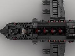 n35 Eagle Homing Gunship (inside) (demitriusgaouette9991) Tags: lego ldd inside crew whitebackground cockpit pilot soldier