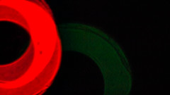 (bcostin) Tags: absract blue circles flare green light red rings
