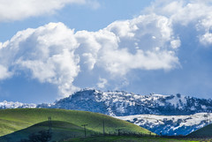 snow capped (pbo31) Tags: bayarea california nikon d810 color over blue february 2019 winter boury pbo31 outdoors sky alamedacounty green snow capped country clouds hills livermore eastbay wine farm