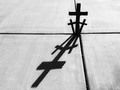 Crosses in BW (Robert Cowlishaw (Mertonian)) Tags: crosses blackandwhite shadows concrete bypl backyardphotolab mertonian robertcowlishaw canonpowershotsx70hs canon powershot sx70hs texture faith cement bright