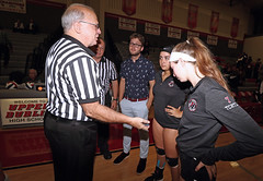 IMG_3167 (SJH Foto) Tags: canon 1018 f4556 stm superwide lens pregame ceremonies ref referee captains coin toss girls high school volleyball bishop shanahan hempfield state pool play championships