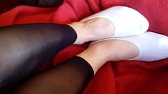 transparente leggings (Turnschläppchen Lover) Tags: nylon gymnastik slippers gym shoes leggings black slipper fetish gymflats