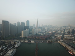 2018-11-20 13th day of Camp Fire's smoke in SF (wuster) Tags: sanfrancisco smokepocalypse pier 7 embarcadero ferry building