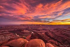 Tribute to Vern (NettyA) Tags: 2017 canyon coloradoplateau deadhorsepointstatepark moab northamerica sonya7r usa utah clouds landscape rocks sky sunset travel