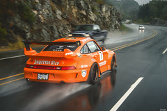 Porsche 993 RWB (Dylan King Photography) Tags: porsche 911 912 964 993 996 997 991 gt3 rs r rwb rauhwelt begriff rauhweltbegriff rain sea sky vancouver whistler bc british columbia canada rolling wet