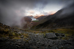 A brief gap in the cloud (PentlandPirate of the North) Tags: honister buttermere warnscale lakedistrict cumbria cloud fog bothy england