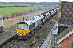 Local Coal (JohnGreyTurner) Tags: br rail uk railway train transport diesel engine locomotive 66 class66 shed emd freightliner fl freight coal hoppers brocklesby lincolnshire