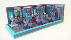 Dwarven Hall (LegoHobbitFan) Tags: lego moc creation build model ccc xvi colossal castle contest medieval fantasy dwarf dwarves hall gray blue