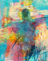 flewShe Knew She Could Fly So She Did (Kerri Blackman) Tags: angelart spiritual paintingoncanvas abstractoriginal originalpainting rainbowcolors modern gestural intuitiveartist