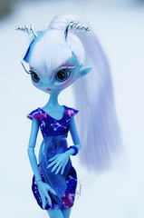 Una in the snow (~Loona~) Tags: monster high mh novi stars una verse alien doll fashion fashiondoll hybrid rebodied winter snow unvierse blue astrology constellation