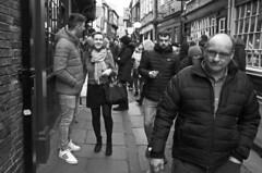 Street people (Wilamoyo) Tags: yorkstreetshots streetpubliccommunity york smile candid waking couple men women man female black white monochrome mono
