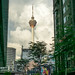 View of KL Tower from Chinatown in Kuala Lumpur