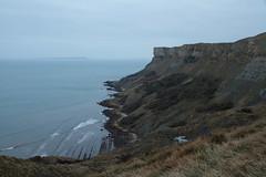 Coastlines 6515 (Thorbard) Tags: coast dorset kimmeridge landscape overcast grey winter winter201819 cliff cliffs sea rugged details waves canonefs1585mmf3556isusm walking outdoor outdoors weather