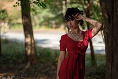 Shady beauty (HarQ Photography) Tags: fujifilm fujifilmxseries xt2 xf56mmf12r portrait shade forest fall autumn