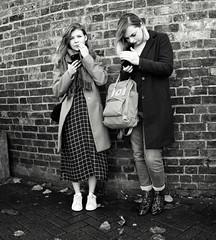 Waiting for a Bus (Bury Gardener) Tags: bw blackandwhite britain monochrome mono cambridgeshire cambridge england uk streetphotography street streetcandids snaps strangers candid candids people peoplewatching folks