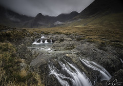 Glenbrittle Upstream ([CamCam]) Tags: red lsle skye scotland fairy pool pools mist cloud mountain mountains waterfall long exposure