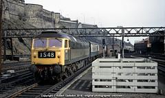 1971 - Green '4 at Edinburgh.. (Robert Gadsdon) Tags: 1971 edinburghwaverleystation br brush type4 1997 diesel withdrawn preserved scrapped