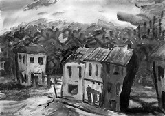 Stories of the Street 'A' (Mario Visintini) Tags: art oil pastel watercolour landscape