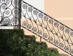 Steps: The Colonel William Rhett House, 54 Hasell Street, Charleston, SC (Spencer Means) Tags: architecture building house colonel williamrhett steps railing iron ironwork wrought ansonborough charleston sc southcarolina
