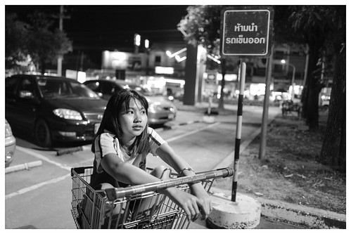 Chiang Mai snapshot: Eileen left unattended in trolley.