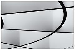Linien – lines (frodul) Tags: schatten pinakothek münchen bw einfarbig monochrom sw abstrakt architektur detail gebäude gestaltung innenansicht konstruktion kurve linie rotunde rund bayern deutschland licht line curve