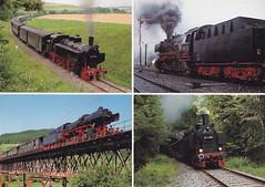 Postkarte / Deutschland (micky the pixel) Tags: postkarte postcard ephemera multiview deutschland germany wutachtal blumberg wutachtalbahn museumsbahn dampflokomotive schwarzwald epfenhofenerviadukt badenwürttemberg