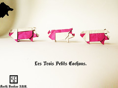 Les Trois Petits Cochons - Barth Dunkan. (Magic Fingaz) Tags: cochon pig origamipig porc maiale 猪 svinja cerdo सूअर babi 豚 beraz varken porco свинья свиња หมู domuz schwein