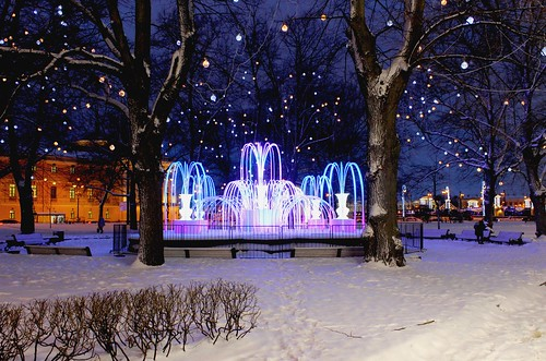 Зимний фонтан у Эрмитажа