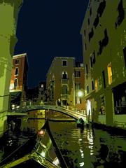 Romantic night in Venice / Nuit romantique à Venise (3) (GEMLAFOTO) Tags: gondola venice venise